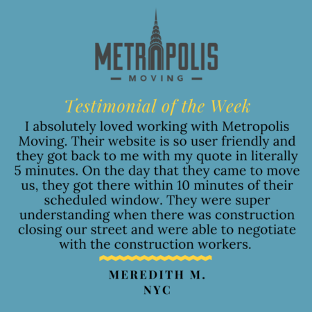 Graphic Testimonial for Metropolis Moving