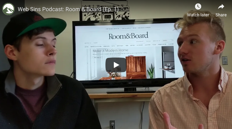Web Sins: Room & Board