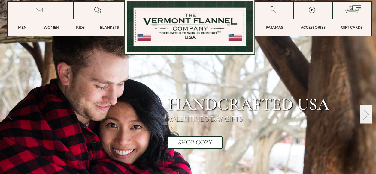 Vermont Flannel Company homepage slider